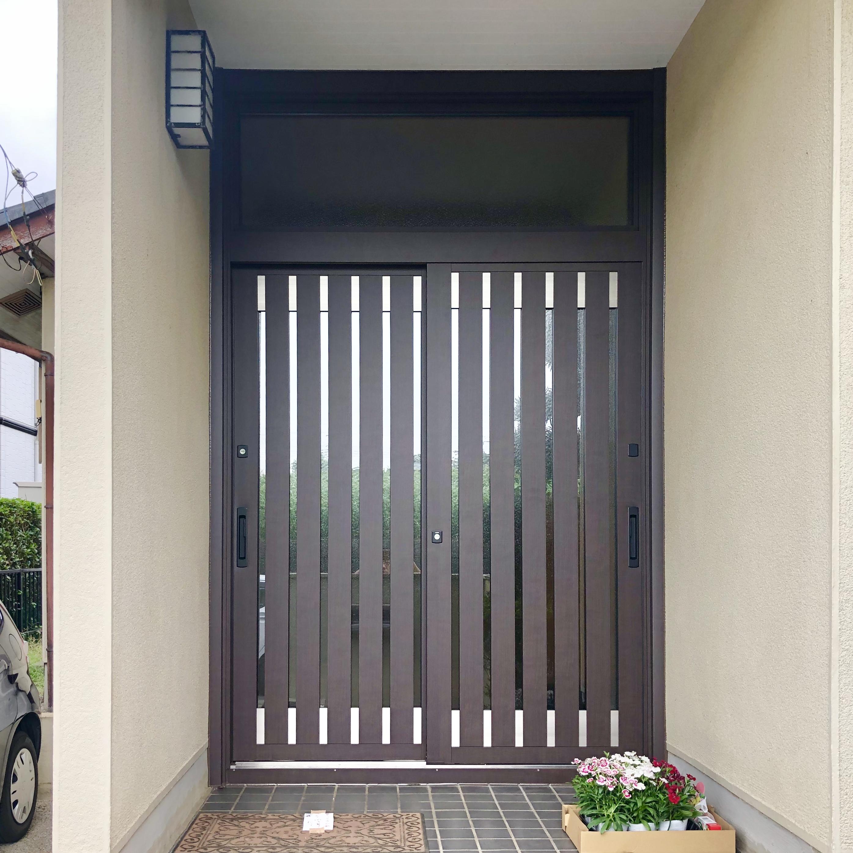 千葉県佐倉市 U様 玄関リフォームで防犯・防音対策✨